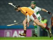 4 February 2018; Michael Gannon of St Patrick's Ballyragget in action against Liam O'Keeffe of Kanturk during the AIB GAA Hurling All-Ireland Intermediate Club Championship Final match between Kanturk and St. Patrick's Ballyragget at Croke Park in Dublin. Photo by Piaras Ó Mídheach/Sportsfile