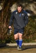 5 February 2018; Michael Bent arrives prior to Leinster Rugby squad training at UCD in Dublin. Photo by Seb Daly/Sportsfile