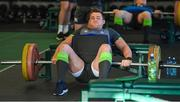 6 February 2018; CJ Stander during an Ireland rugby gym session at Carton House in Maynooth, Co Kildare. Photo by Brendan Moran/Sportsfile
