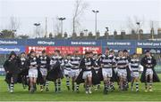 7 February 2018; Belvedere College make their way off the pitch after the Bank of Ireland Leinster Schools Junior Cup Round 1 match between CUS and Belvedere College at Donnybrook Stadium in Dublin.  Photo by Eóin Noonan/Sportsfile