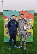 7 February 2018; IT Carlow has been successfully running two sports courses, in conjunction with the Football Association of Ireland, with students qualifying with BA in Sports Management and Coaching or BA in Sports Coaching and Business Management. Graduates from the course are now working in various roles within the sports industry around the world, including prominent positions at clubs like Manchester United, Manchester City, Reading and Leeds United as well as the SSE Airtricity League and Continental Tyres Women's National League. Pictured at the IT Carlow Sports Courses launch are Luke Hardy, IT Carlow Programme Leader, left, and Damian Locke, Wexford FC manager, at FAI Headquarters in Abbotstown, Dublin. Photo by Piaras Ó Mídheach/Sportsfile