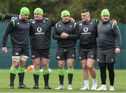 8 February 2018; Team captain Rory Best, centre, with team-mates, from left, CJ Stander, Tadhg Furlong, Andrew Porter and Dave Kilcoyne during Ireland Rugby squad training at Carton House in Kildare. Photo by Matt Browne/Sportsfile