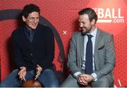 8 February 2018: Former Ireland soccer player Keith Andrews, left, and boxer Andy Lee in attendance at the Off The Ball Launch at the Drury Buildings in Dublin. Photo by David Fitzgerald/Sportsfile