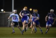 8 February 2018; Luke Scanlon of University College Dublin in action against Conor Ryan, centre, of Dublin Institute of Technology during the Electric Ireland HE GAA Fitzgibbon Cup Quarter-Final match between University College Dublin and Dublin Institute of Technology at UCD in Dublin. Photo by Seb Daly/Sportsfile