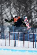 9 February 2018; Seamus O'Connor of Ireland during a snowboard half pipe practice session ahead of the Winter Olympics at the Phoenix Snow Park in Pyeongchang-gun, South Korea. Photo by Ramsey Cardy/Sportsfile