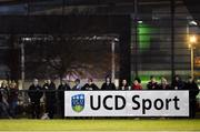8 February 2018; University College Dublin supporters during the Electric Ireland HE GAA Fitzgibbon Cup Quarter-Final match between University College Dublin and Dublin Institute of Technology at UCD in Dublin. Photo by Seb Daly/Sportsfile