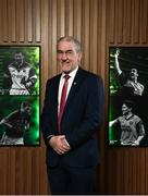 9 February 2018; The definitive GAA sports series returns to TG4 in the spring with a new hour long format. Featuring five GAA personalities whose dramatic, event packed stories demand the longer programme duration to do them justice. These Laochra radiate genuine star quality and are already celebrated as sporting legends. But the series reveals deeper, fresh and sometimes unexpected insights into the lives of these icons, their relationship to their sport and the world around them. While their sporting careers continue to provide the core narratives that have been essential to Laochra Gael's popularity down the years, this new series edges the envelope well beyond the four white lines. It's gripping personal storylines compel its viewers to travel with it towards territory unique to the GAA television landscape. Pictured is current Tyrone manager Micky Harte, at Croke Park in Dublin. Photo by Seb Daly/Sportsfile