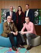 9 February 2018; The definitive GAA sports series returns to TG4 in the spring with a new hour long format. Featuring five GAA personalities whose dramatic, event packed stories demand the longer programme duration to do them justice. These Laochra radiate genuine star quality and are already celebrated as sporting legends. But the series reveals deeper, fresh and sometimes unexpected insights into the lives of these icons, their relationship to their sport and the world around them. While their sporting careers continue to provide the core narratives that have been essential to Laochra Gael's popularity down the years, this new series edges the envelope well beyond the four white lines. It's gripping personal storylines compel its viewers to travel with it towards territory unique to the GAA television landscape. Pictured are, from left, Pádhraic Ó Ciardha, Leascheannasaí TG4, Tyrone manager Micky Harte, Cork Camogie player Ashling Thompson, former Meath footballer Graham Geraghty, and former Tipperary hurler Lar Corbett, at Croke Park in Dublin. Photo by Seb Daly/Sportsfile