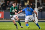 9 February 2018; James McCarthy of Ireland in action against Michelangelo Biondelli of Italy during the U20 Six Nations Rugby Championship match between Ireland and Italy at Donnybrook Stadium in Dublin. Photo by Piaras Ó Mídheach/Sportsfile