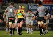 9 February 2018; Referee Joy Neville during the Guinness PRO14 Round 14 match between Ulster and Southern Kings at Kingspan Stadium in Belfast. Photo by Oliver McVeigh/Sportsfile