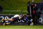 9 February 2018; Barry Daly of Leinster scores his side's fourth try during the Guinness PRO14 Round 14 match between Edinburgh Rugby and Leinster at Myreside, in Edinburgh, Scotland. Photo by Brendan Moran/Sportsfile