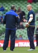 10 February 2018; Sergio Parisse of Italy, right, with Italy head coach Conor O'Shea prior to the Six Nations Rugby Championship match between Ireland and Italy at the Aviva Stadium in Dublin. Photo by David Fitzgerald/Sportsfile