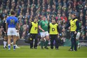 10 February 2018; Tadhg Furlong of Ireland is substituted due to injury during the Six Nations Rugby Championship match between Ireland and Italy at the Aviva Stadium in Dublin.