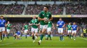 10 February 2018; Conor Murray of Ireland runs in to score his side's second try during the Six Nations Rugby Championship match between Ireland and Italy at the Aviva Stadium in Dublin.Photo by Brendan Moran/Sportsfile