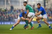 10 February 2018; Rob Kearney of Ireland is tackled by Tommaso Benvenuti of Italy during the Six Nations Rugby Championship match between Ireland and Italy at the Aviva Stadium in Dublin. Photo by David Fitzgerald/Sportsfile