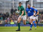 10 February 2018; Robbie Henshaw of Ireland on his way to scoring his side's fifth try during the Six Nations Rugby Championship match between Ireland and Italy at the Aviva Stadium in Dublin. Photo by Seb Daly/Sportsfile