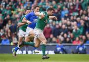 10 February 2018; Robbie Henshaw of Ireland on his way to scoring his side's fifth try during the Six Nations Rugby Championship match between Ireland and Italy at the Aviva Stadium in Dublin.Photo by David Fitzgerald/Sportsfile