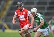 10 February 2018; Marc Schutte of Cuala in action against Mark Hughes of Liam Mellows during the AIB GAA Hurling All-Ireland Senior Club Championship Semi-Final match between Liam Mellows and Cuala at Semple Stadium in Thurles, Tipperary. Photo by Matt Browne/Sportsfile
