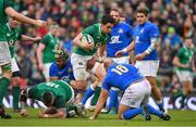 10 February 2018; Joey Carbery of Ireland cuts through traffic on a break during the Six Nations Rugby Championship match between Ireland and Italy at the Aviva Stadium in Dublin. Photo by Brendan Moran/Sportsfile