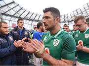 10 February 2018; Rob Kearney of Ireland leaves the field following his side's victory during the Six Nations Rugby Championship match between Ireland and Italy at the Aviva Stadium in Dublin. Photo by Seb Daly/Sportsfile