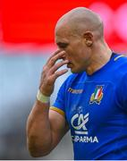 10 February 2018; A dejected Sergio Parisse of Italy following his side's defeat in the Six Nations Rugby Championship match between Ireland and Italy at the Aviva Stadium in Dublin. Photo by David Fitzgerald/Sportsfile