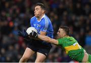 10 February 2018: Paddy Andrews of Dublin in action against Tony McClenaghan of Donegal during the Allianz Football League Division 1 Round 3 match between Dublin and Donegal at Croke Park in Dublin. Photo by Brendan Moran/Sportsfile