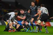 10 February 2018; Brian Scott of Munster in action against George Biagi of Zebre during the Guinness PRO14 Round 14 match between Munster and Zebre at Thomond Park in Limerick. Photo by Diarmuid Greene/Sportsfile