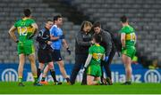10 February 2018; Ryan McHugh of Donegal is treated for an injury during the Allianz Football League Division 1 Round 3 match between Dublin and Donegal at Croke Park in Dublin. Photo by Piaras Ó Mídheach/Sportsfile