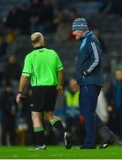 10 February 2018; Dublin manager Mick Bohan with referee Gavin Corrigan after the Lidl Ladies Football National League Division 1 match between Dublin and Cork at Croke Park in Dublin. Photo by Piaras Ó Mídheach/Sportsfile