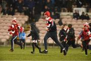 10 February 2018; Cuala supporters celebrate after the AIB GAA Hurling All-Ireland Senior Club Championship Semi-Final match between Liam Mellows and Cuala at Semple Stadium in Thurles, Tipperary.  Photo by Matt Browne/Sportsfile