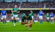 10 February 2018; Conor Murray of Ireland scores his side's second try during the Six Nations Rugby Championship match between Ireland and Italy at the Aviva Stadium in Dublin. Photo by Brendan Moran/Sportsfile