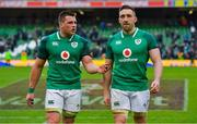 10 February 2018; CJ Stander, left, and Jack Conan of Ireland after the Six Nations Rugby Championship match between Ireland and Italy at the Aviva Stadium in Dublin. Photo by Brendan Moran/Sportsfile