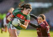 11 February 2018; Rachel Kearns of Mayo in action against Charlotte Cooney of Galway during the Lidl Ladies Football National League Division 1 Round 3 match between Galway and Mayo at Pearse Stadium in Galway. Photo by Diarmuid Greene/Sportsfile
