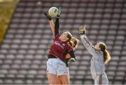 11 February 2018; Noelle Connolly and goalkeeper Dearbhla Gower of Galway in action against Rachel Kearns of Mayo during the Lidl Ladies Football National League Division 1 Round 3 match between Galway and Mayo at Pearse Stadium in Galway. Photo by Diarmuid Greene/Sportsfile