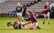 11 February 2018; Rachel Kearns of Mayo in action against Noelle Connolly of Galway during the Lidl Ladies Football National League Division 1 Round 3 match between Galway and Mayo at Pearse Stadium in Galway. Photo by Diarmuid Greene/Sportsfile