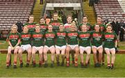 11 February 2018; The Mayo team prior to the Lidl Ladies Football National League Division 1 Round 3 match between Galway and Mayo at Pearse Stadium in Galway. Photo by Diarmuid Greene/Sportsfile