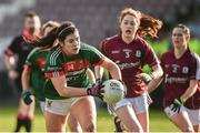 11 February 2018; Rachel Kearns of Mayo in action against Sarah Lynch of Galway during the Lidl Ladies Football National League Division 1 Round 3 match between Galway and Mayo at Pearse Stadium in Galway. Photo by Diarmuid Greene/Sportsfile