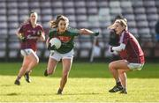 11 February 2018; Niamh Kelly of Mayo in action against Sinead Burke of Galway during the Lidl Ladies Football National League Division 1 Round 3 match between Galway and Mayo at Pearse Stadium in Galway. Photo by Diarmuid Greene/Sportsfile