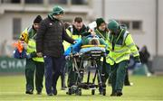 11 February 2018; Alison Miller of Ireland is stretchered off due to an injury during the Women's Six Nations Rugby Championship match between Ireland and Italy at Donnybrook Stadium in Dublin. Photo by David Fitzgerald/Sportsfile
