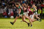 11 February 2018; Niamh Kelly of Mayo in action against Leanne Coen of Galway during the Lidl Ladies Football National League Division 1 Round 3 match between Galway and Mayo at Pearse Stadium in Galway.  Photo by Diarmuid Greene/Sportsfile