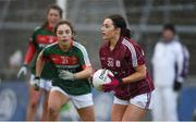 11 February 2018; Charlotte Cooney of Galway in action against Roisin Flynn of Mayo during the Lidl Ladies Football National League Division 1 Round 3 match between Galway and Mayo at Pearse Stadium in Galway.  Photo by Diarmuid Greene/Sportsfile