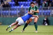 11 February 2018; Sene Naoupu of Ireland is tackled by Beatrice Rigoni of Italy during the Women's Six Nations Rugby Championship match between Ireland and Italy at Donnybrook Stadium in Dublin. Photo by David Fitzgerald/Sportsfile