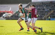 11 February 2018; Jason Gibbons of Mayo in action against Shane Walsh of Galway during the Allianz Football League Division 1 Round 3 match between Galway and Mayo at Pearse Stadium in Galway. Photo by Diarmuid Greene/Sportsfile
