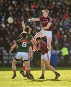 11 February 2018; Peter Cooke of Galway in action against Aidan O'Shea of Mayo during the Allianz Football League Division 1 Round 3 match between Galway and Mayo at Pearse Stadium in Galway. Photo by Diarmuid Greene/Sportsfile