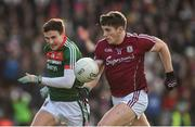 11 February 2018; Shane Walsh of Galway in action against Jason Doherty of Mayo during the Allianz Football League Division 1 Round 3 match between Galway and Mayo at Pearse Stadium in Galway. Photo by Diarmuid Greene/Sportsfile