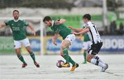 11 February 2018; Gearóid Morrissey of Cork City in action against Jamie McGrath of Dundalk during the President's Cup match between Dundalk and Cork City at Oriel Park in Dundalk, Co Louth. Photo by Seb Daly/Sportsfile
