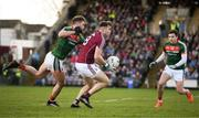 11 February 2018; Paul Conroy of Galway in action against Aidan O'Shea of Mayo during the Allianz Football League Division 1 Round 3 match between Galway and Mayo at Pearse Stadium in Galway. Photo by Diarmuid Greene/Sportsfile