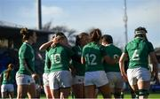 11 February 2018; Ireland players celebrate their second try scored by Ciara Griffin of Ireland during the Women's Six Nations Rugby Championship match between Ireland and Italy at Donnybrook Stadium in Dublin. Photo by David Fitzgerald/Sportsfile