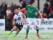 11 February 2018; Graham Cummins of Cork City in action against Robbie Benson of Dundalk during the President's Cup match between Dundalk and Cork City at Oriel Park in Dundalk, Co Louth. Photo by Seb Daly/Sportsfile