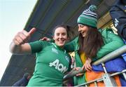 11 February 2018; Kim Flood of Ireland celebrates with best friend Ina Butler following her side's victory in the Women's Six Nations Rugby Championship match between Ireland and Italy at Donnybrook Stadium in Dublin. Photo by David Fitzgerald/Sportsfile